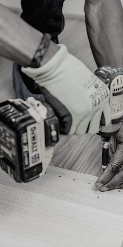 Blue & White Modern Handyman Service Flyer (1)